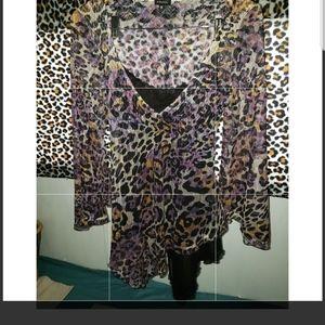 Komarov Dresses - Komarov leapord Dress or Tunic With Black Lining M